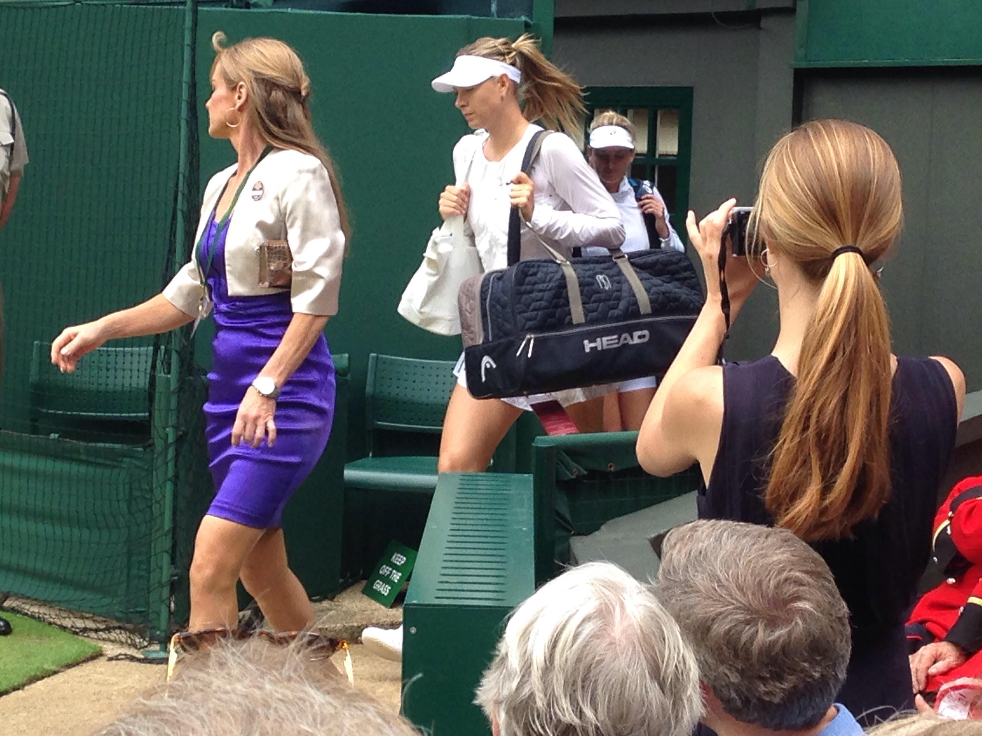 Maria Sharapova, Center Court, Wimbledon 2015